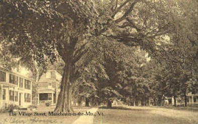 Village Street - Manchester, Vermont VT Postcard