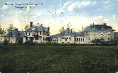 Heaton Hospital - Montpelier, Vermont VT Postcard