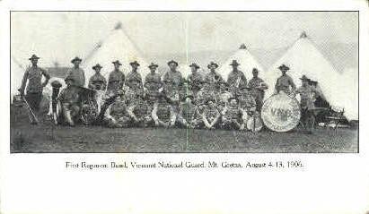 First Regiment Band - Mount Gretna, Vermont VT Postcard