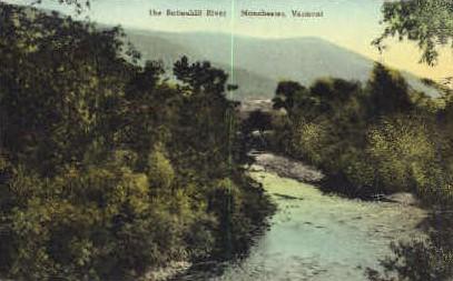 Battenkill River - Manchester, Vermont VT Postcard