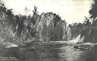 Pulpit Rock - Morrisville, Vermont VT Postcard