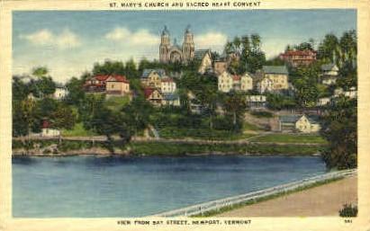St. Mary's Church - Newport, Vermont VT Postcard