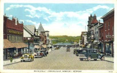 Main Street - Newport, Vermont VT Postcard