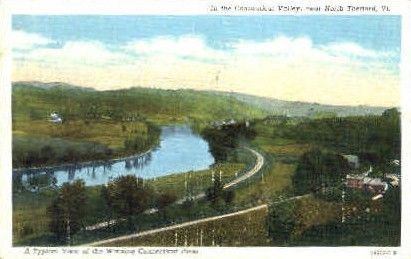 Connecticut River   - Thetford, Vermont VT Postcard