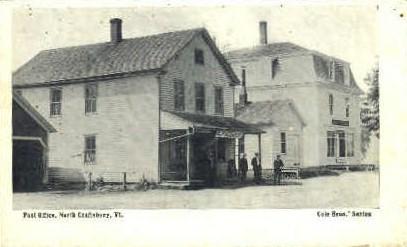 Post Office - Craftsbury, Vermont VT Postcard
