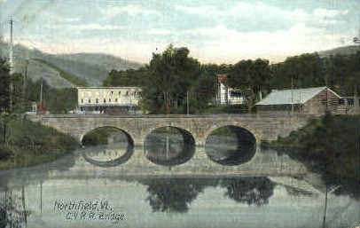 C. V. R. R. Bridge - Northfield, Vermont VT Postcard