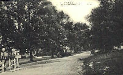 Main Street - Newfane, Vermont VT Postcard