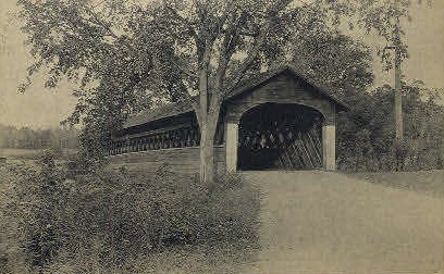 Covered Bridge - Bennington, Vermont VT Postcard