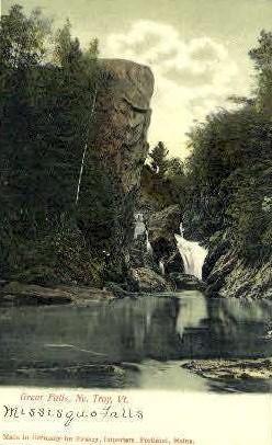 Great Falls - Troy, Vermont VT Postcard