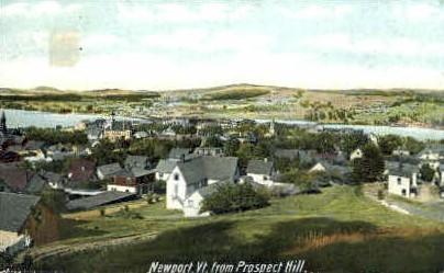 Prospect Hill - Newport, Vermont VT Postcard