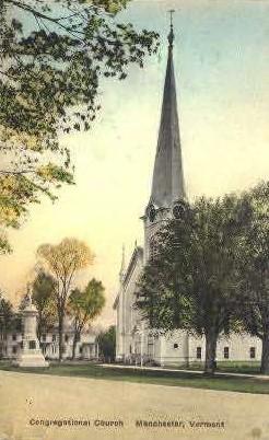 Congregational Church - Manchester, Vermont VT Postcard