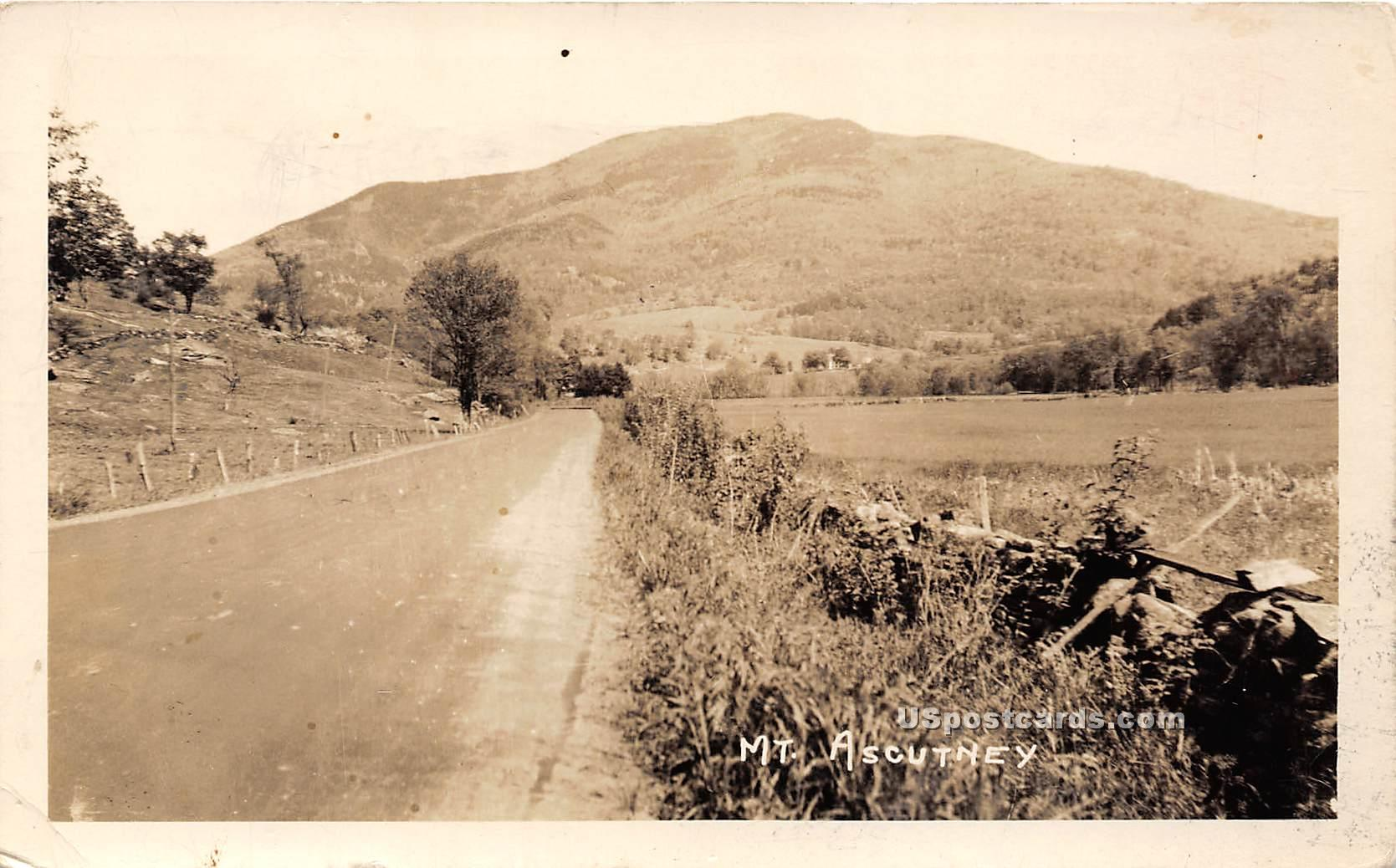 Dirt Road - Mount Ascutney, Vermont VT Postcard