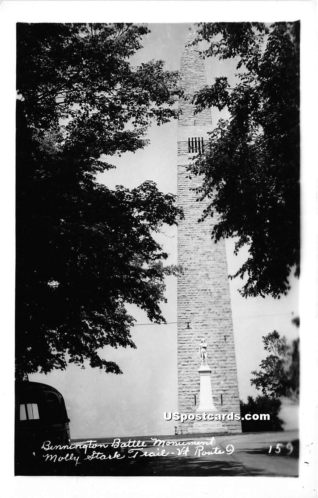 Bennington Battle Monument - Molly Stark Trail, Vermont VT Postcard