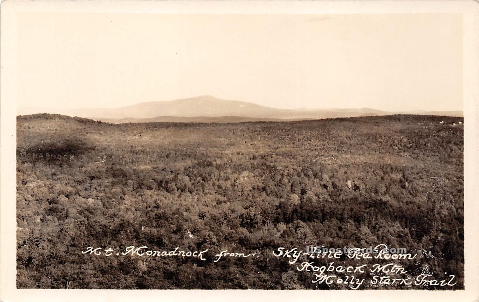 Mount Monadnocks - Molly Stark Trail, Vermont VT Postcard