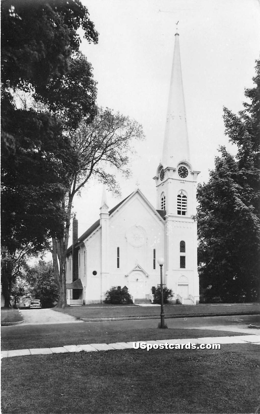 First Congregational Church - Mancheseter, Vermont VT Postcard