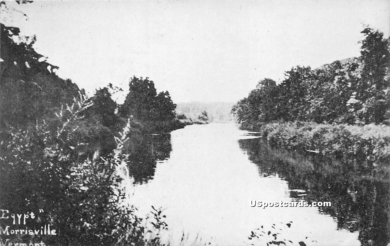 Egypt - Morrisville, Vermont VT Postcard