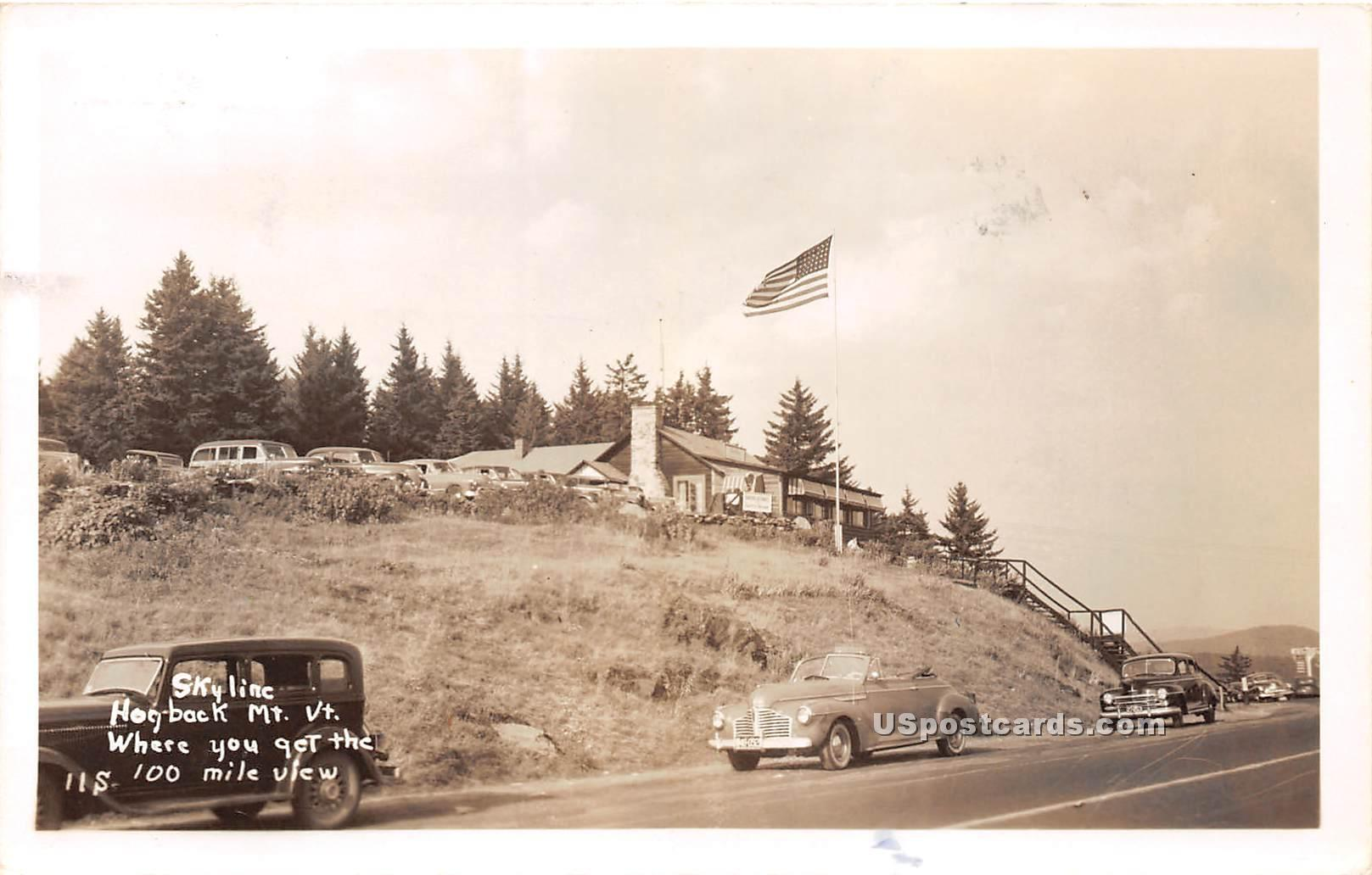 Hogback Mountain - Molly Stark Trail, Vermont VT Postcard