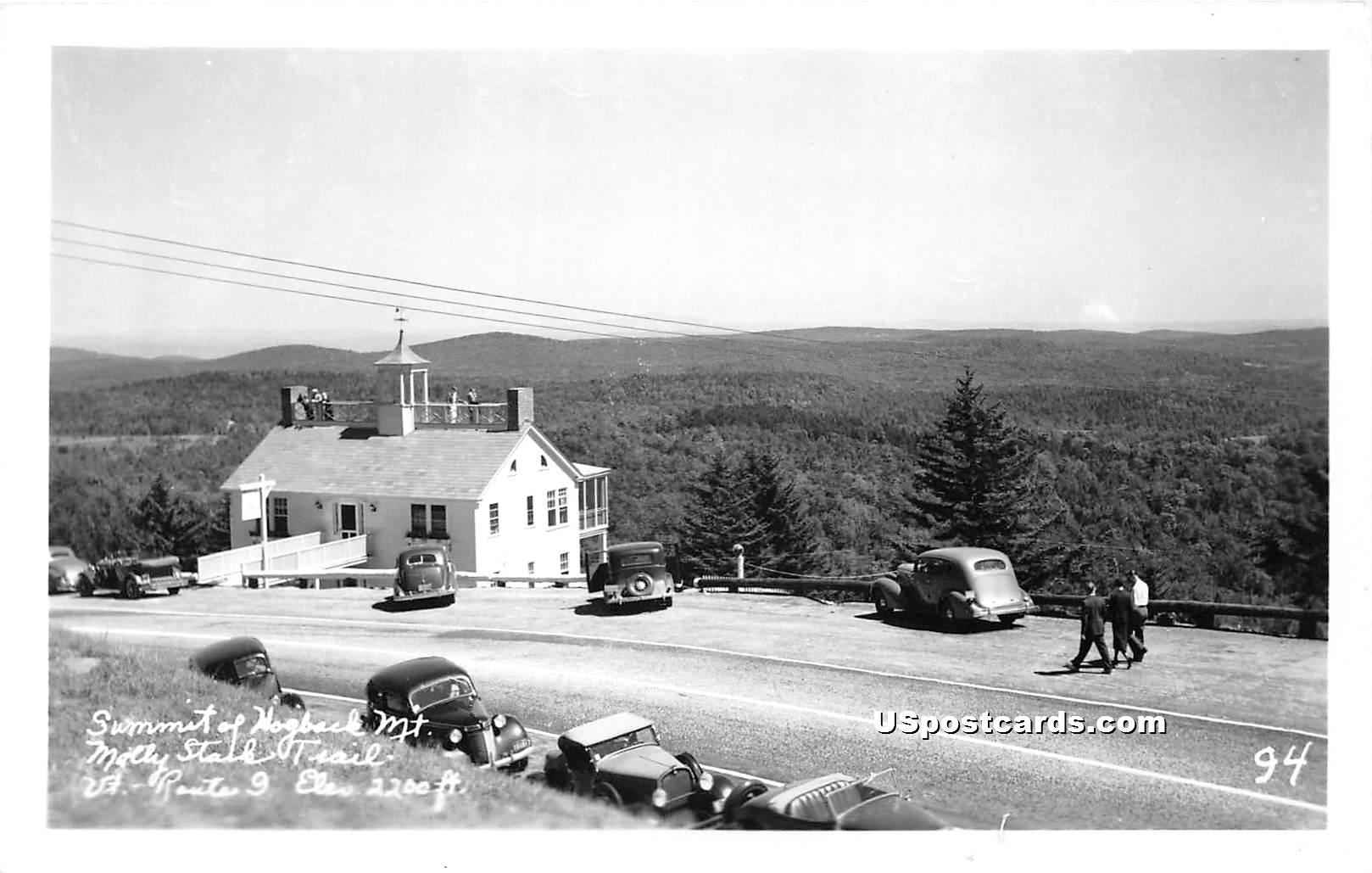 Summit of Hogback Mountain - Molly Stark Trail, Vermont VT Postcard