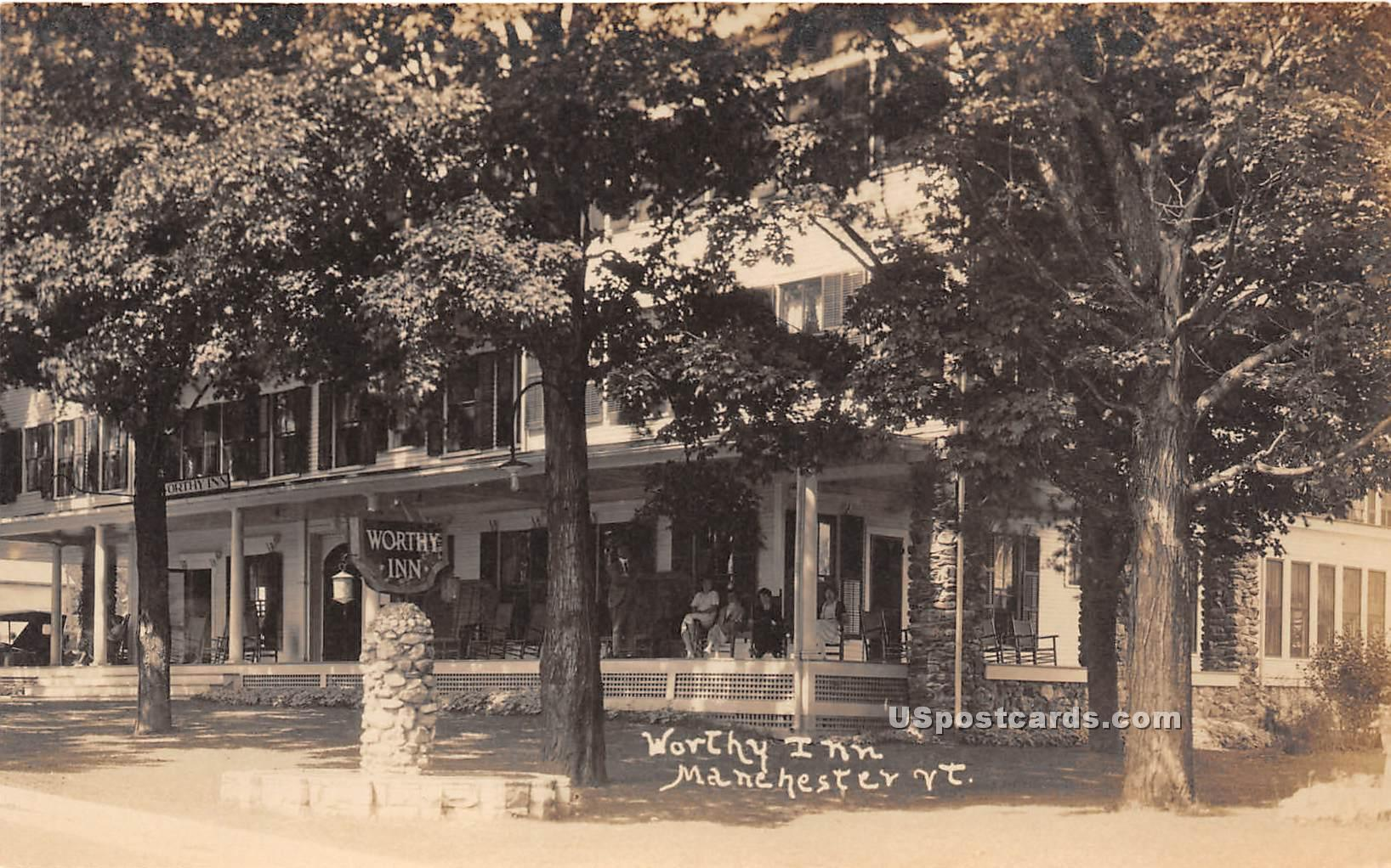 Worthy Inn - Mancheseter, Vermont VT Postcard