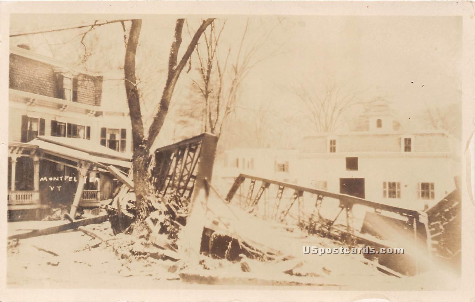 Disaster - Montpelier, Vermont VT Postcard