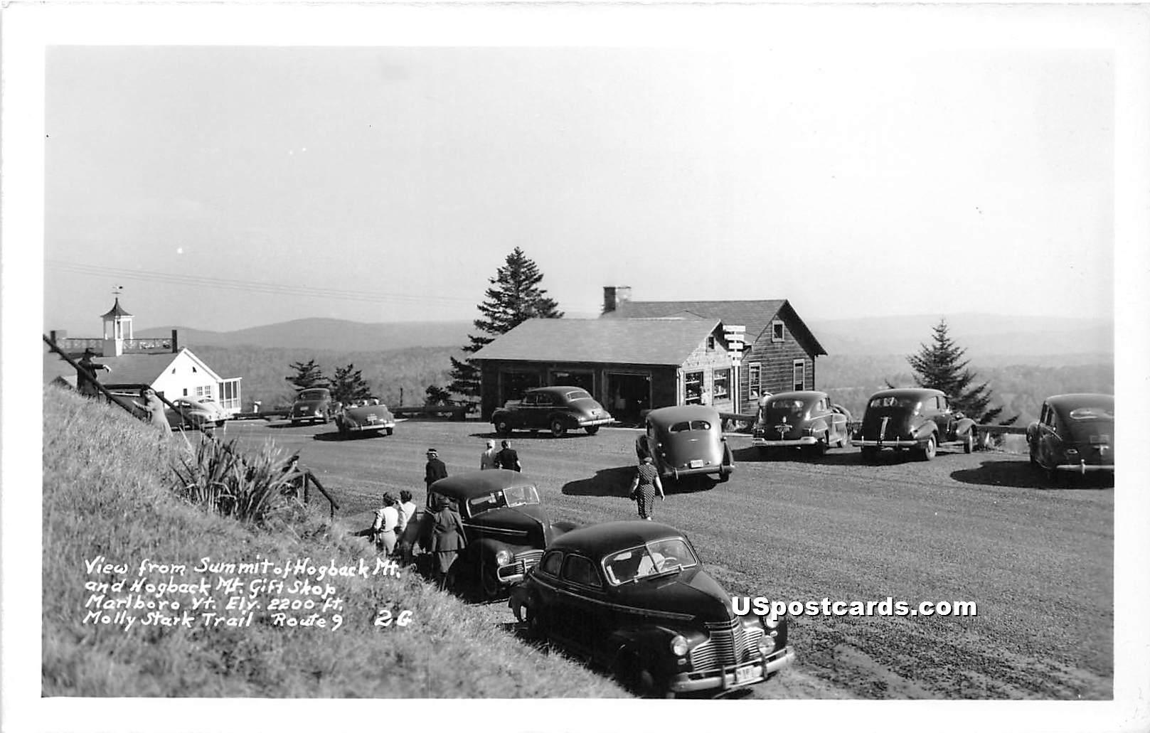Summit of Hogback Mountain - Marlboro, Vermont VT Postcard