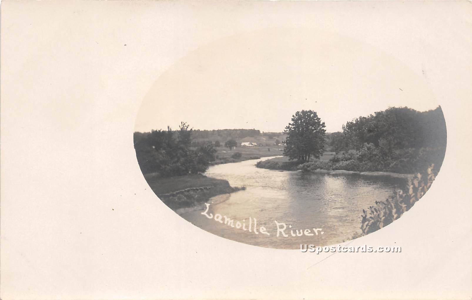 Lamoille River - Morrisville, Vermont VT Postcard