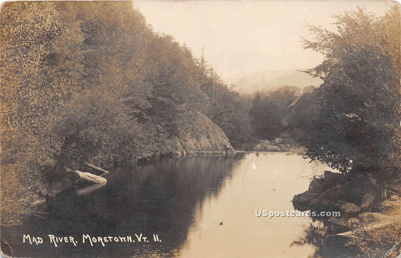 Mad River - Moretown, Vermont VT Postcard