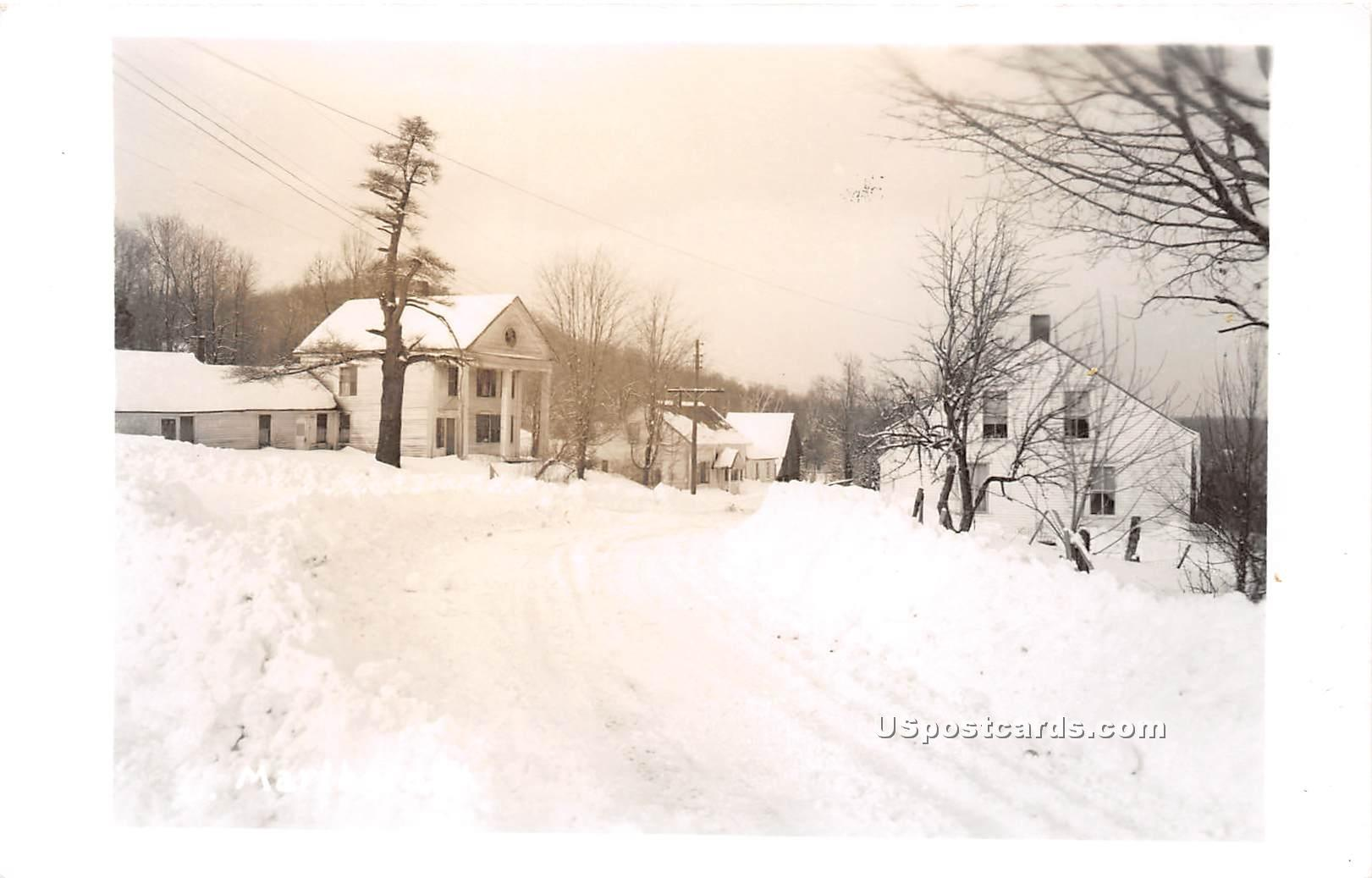 Snow Scene - Marlboro, Vermont VT Postcard