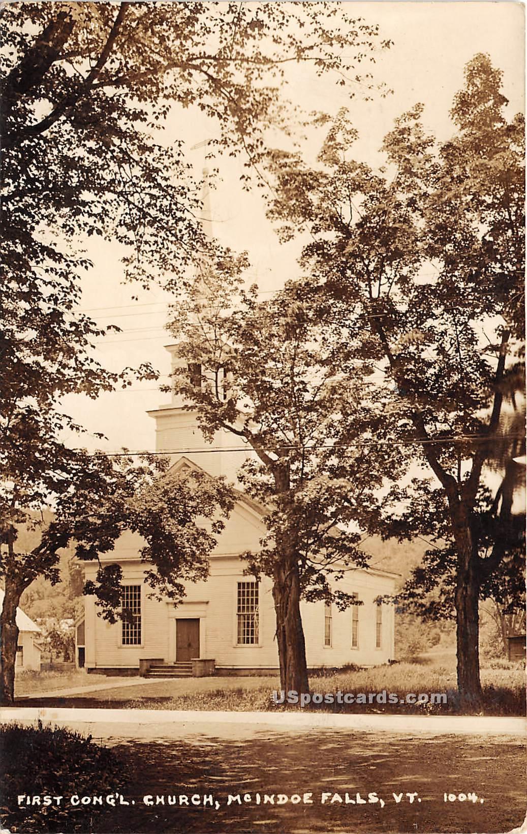 First Congregational Church - McIndoe Falls, Vermont VT Postcard