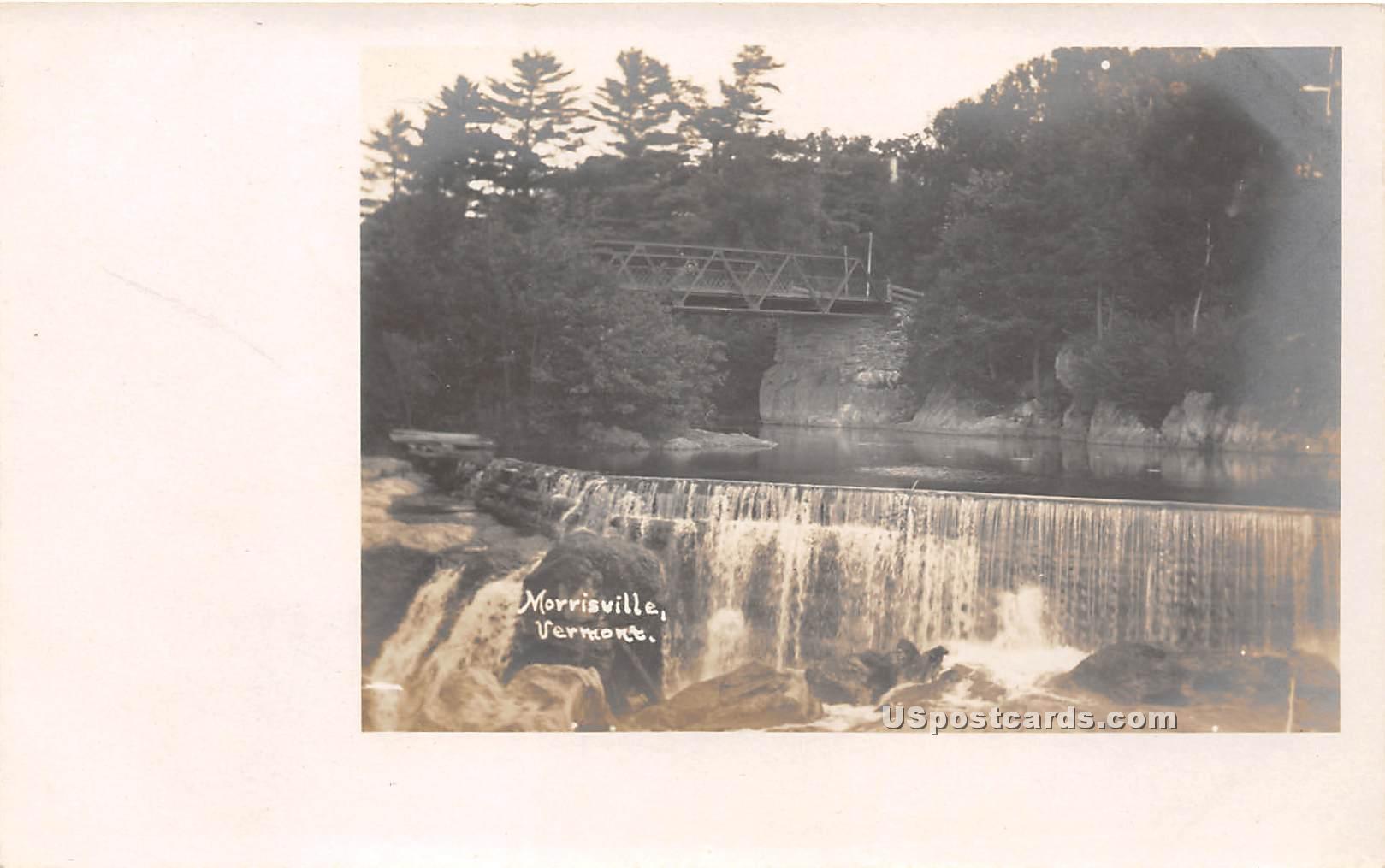 Waterfall - Morrisville, Vermont VT Postcard
