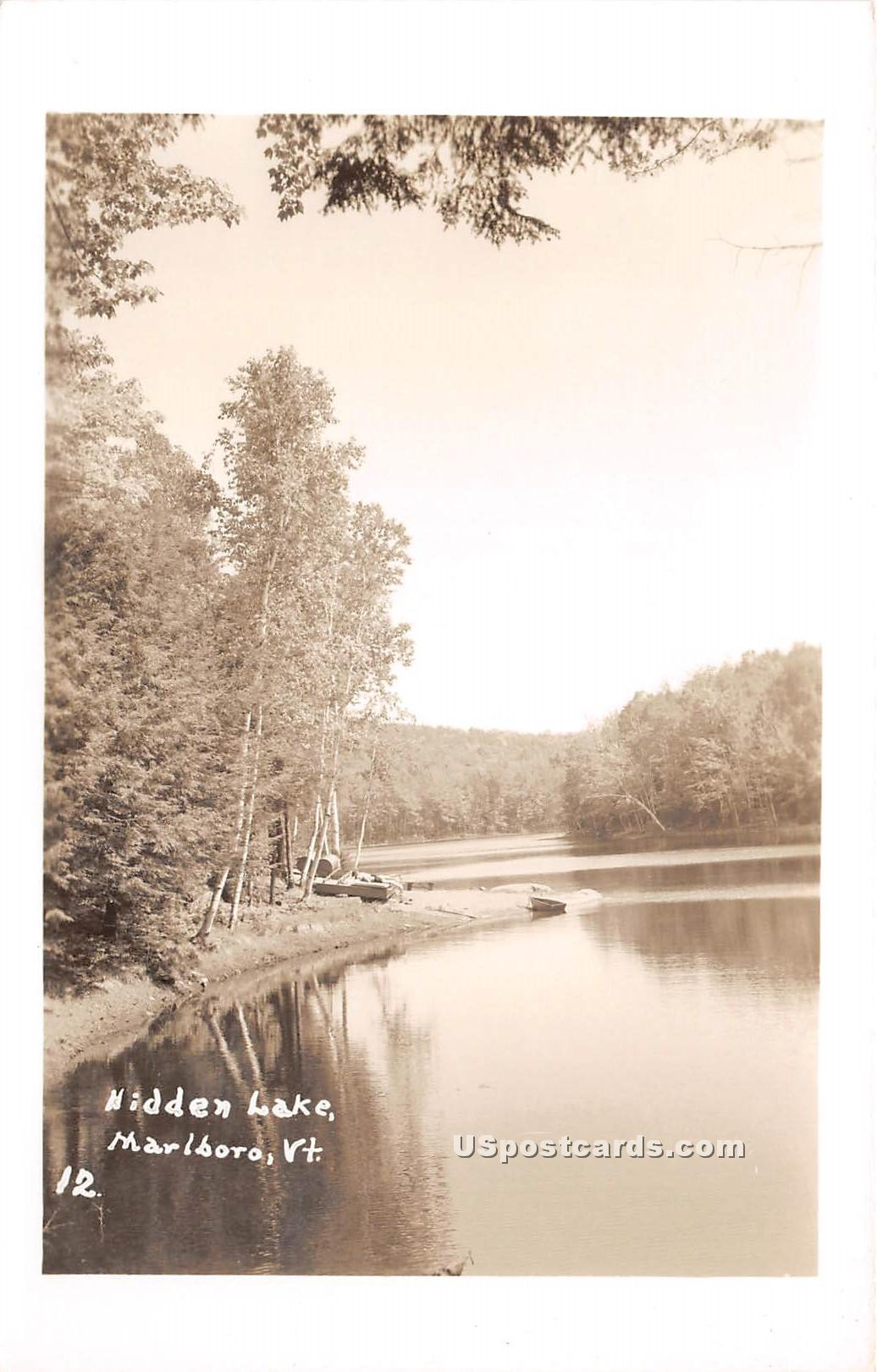 Hidden Lake - Marlboro, Vermont VT Postcard