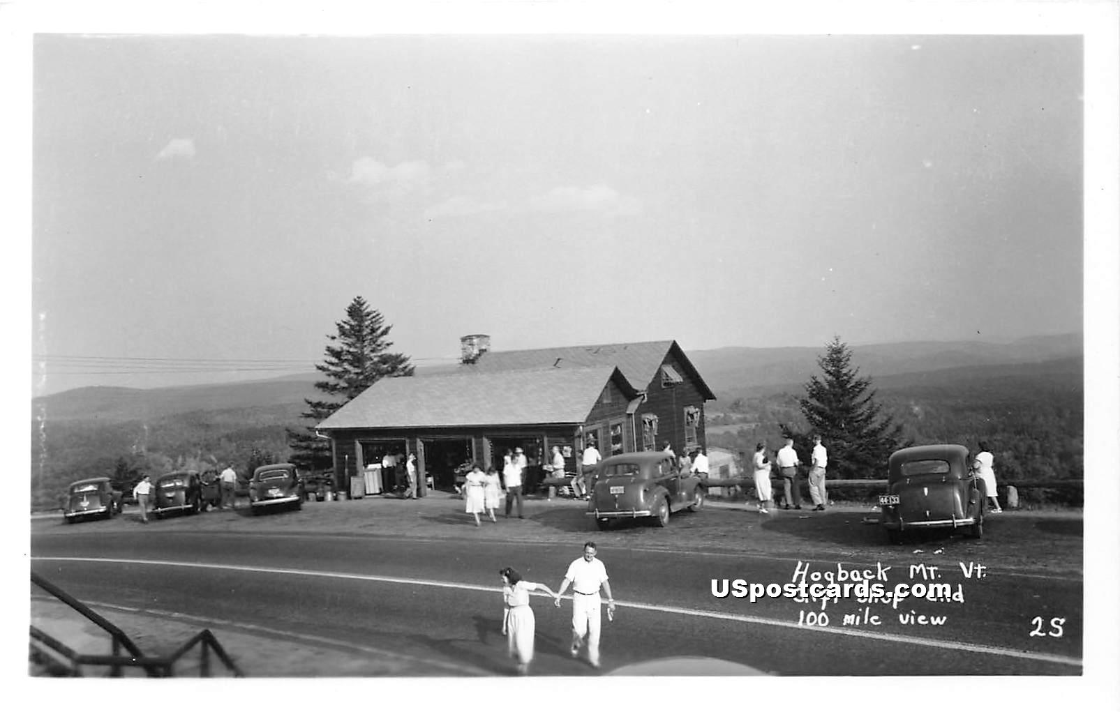 Hogback Mountain Gift Shop - Molly Stark Trail, Vermont VT Postcard