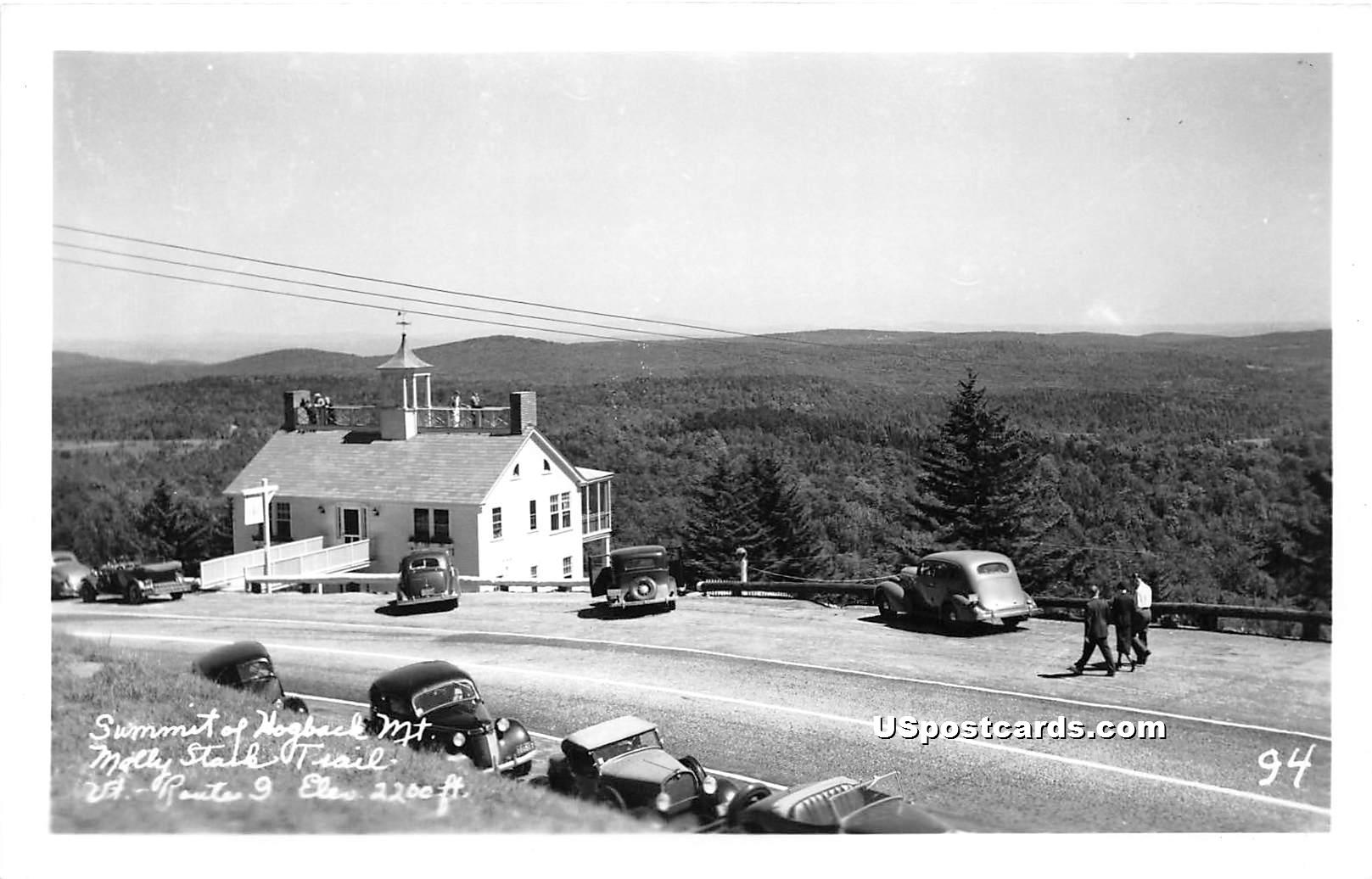 Summit Hogback Mountain - Molly Stark Trail, Vermont VT Postcard