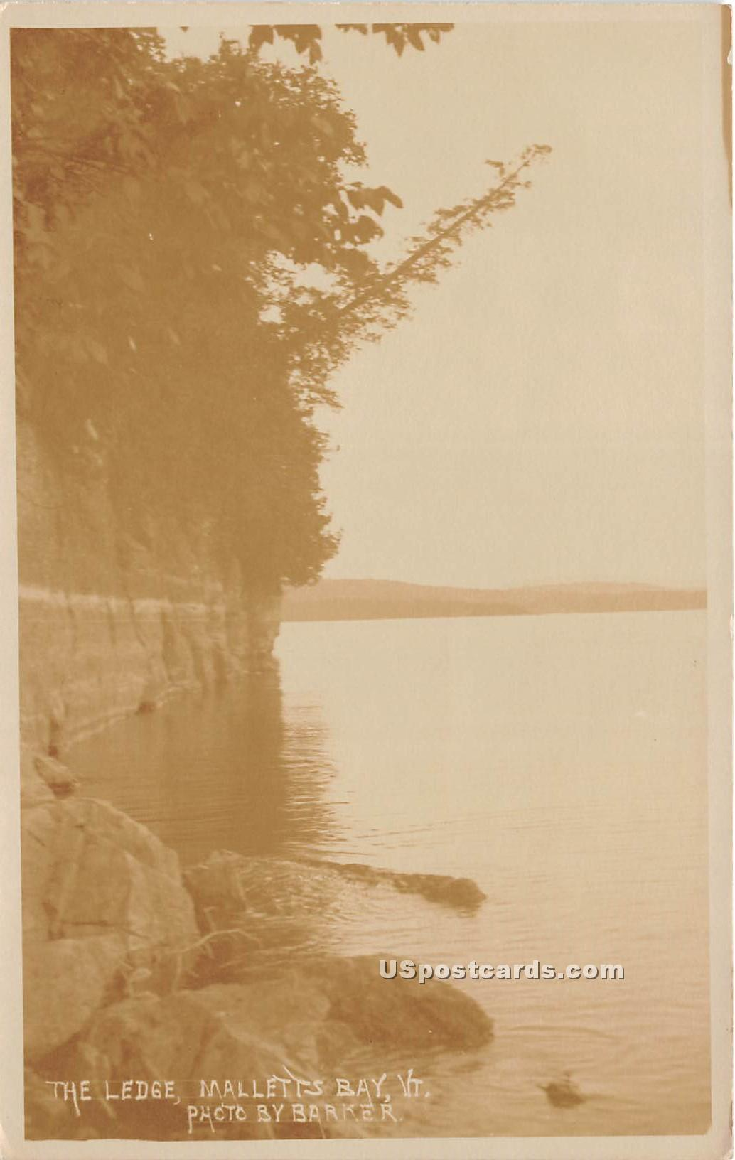 Ledge - Malletts Bay, Vermont VT Postcard