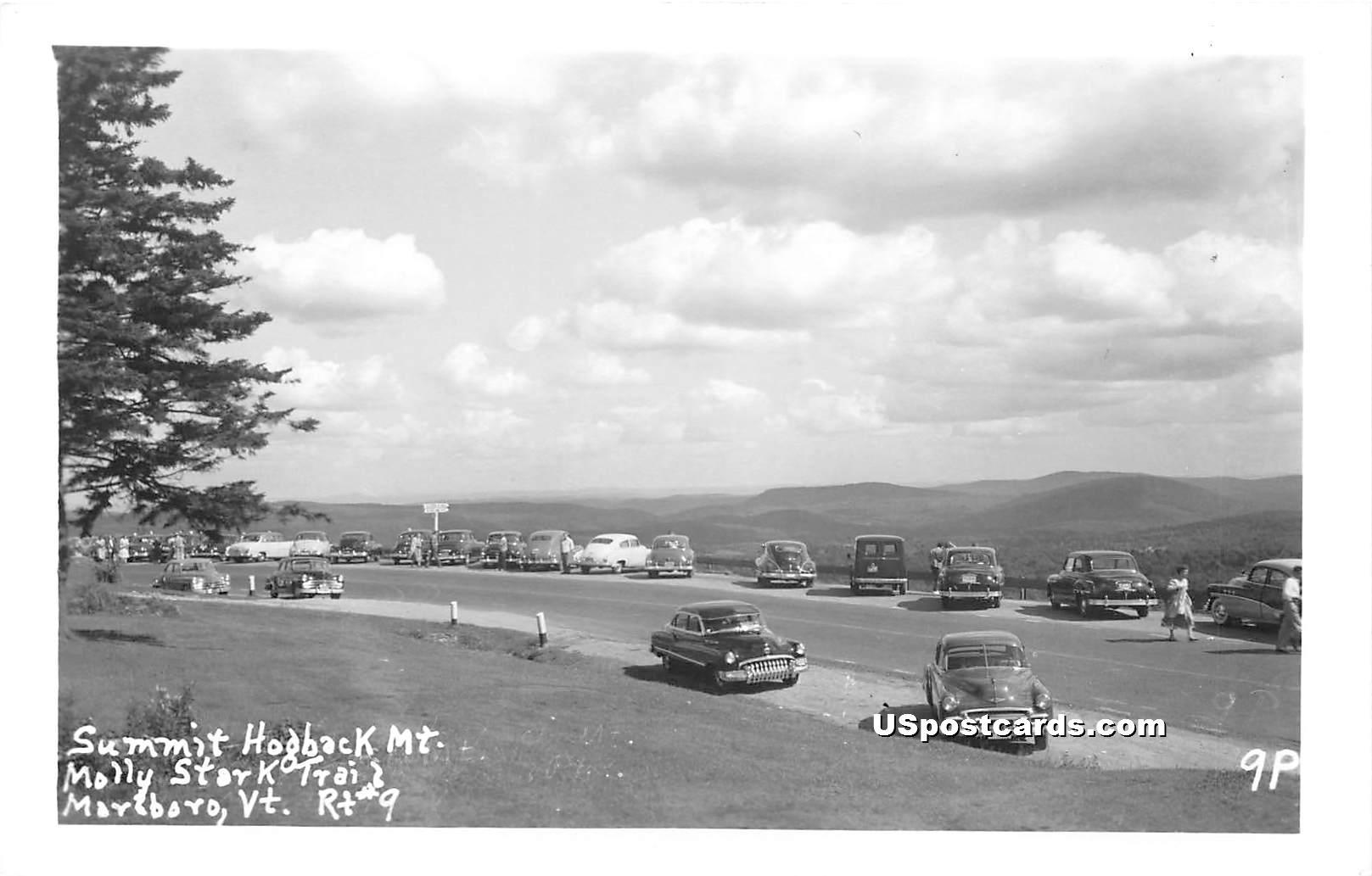 Summit Hogback Mountain - Marlboro, Vermont VT Postcard