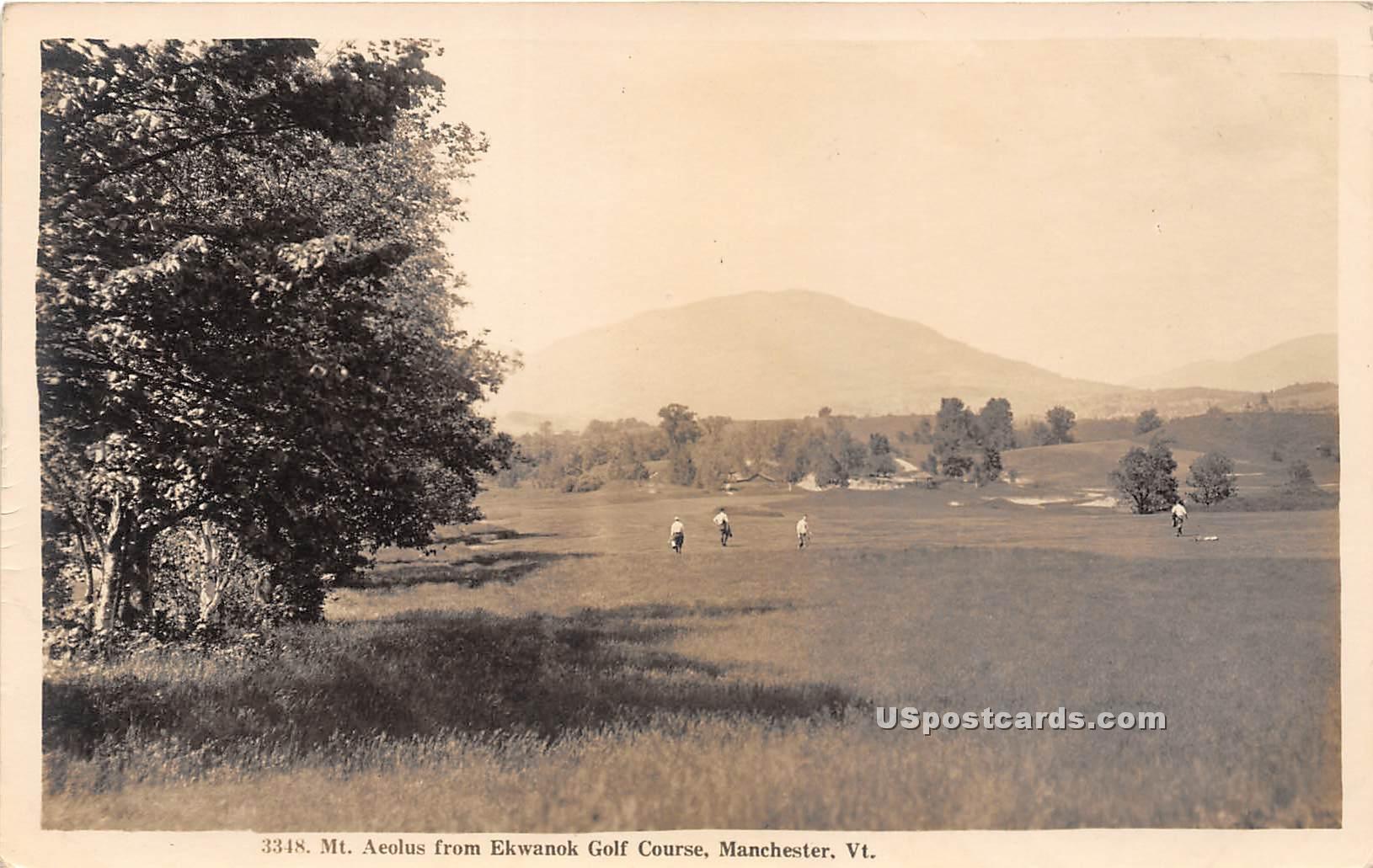 Mount Aeolus - Mancheseter, Vermont VT Postcard