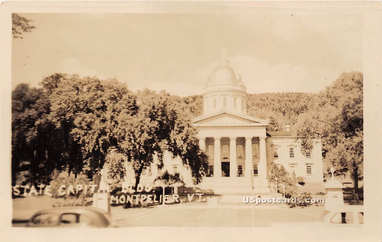State Capitol Building - Montpelier, Vermont VT Postcard