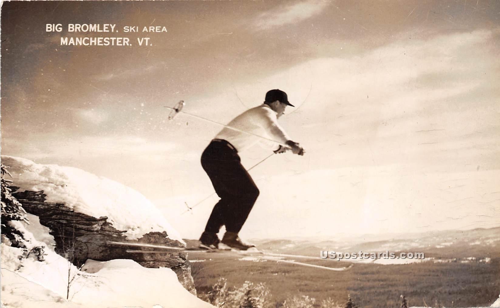 Big Bromley Ski Area - Mancheseter, Vermont VT Postcard