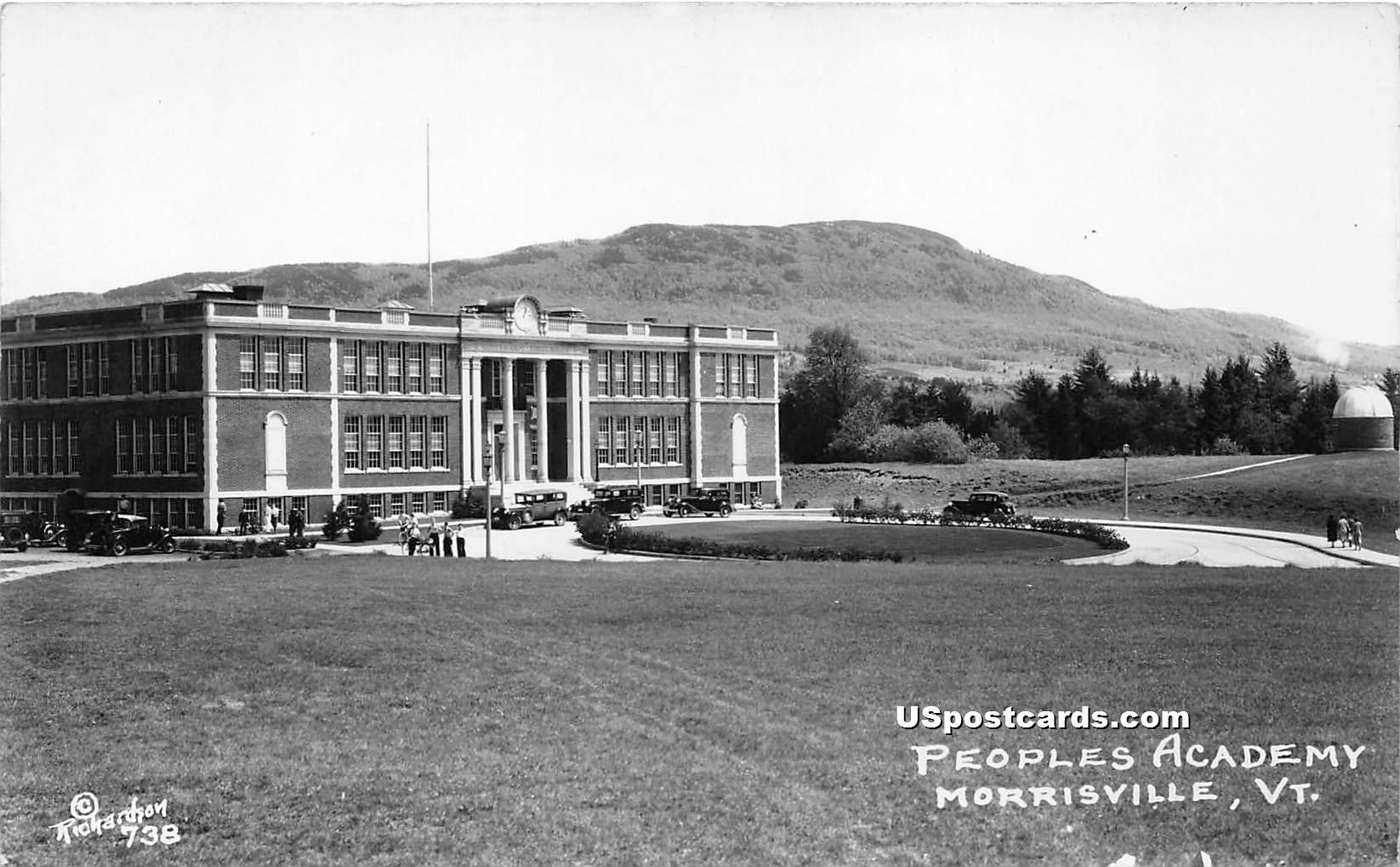 Peoples Academy - Morrisville, Vermont VT Postcard