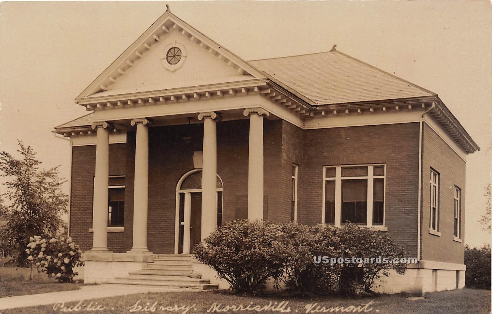 Public Library - Morrisville, Vermont VT Postcard