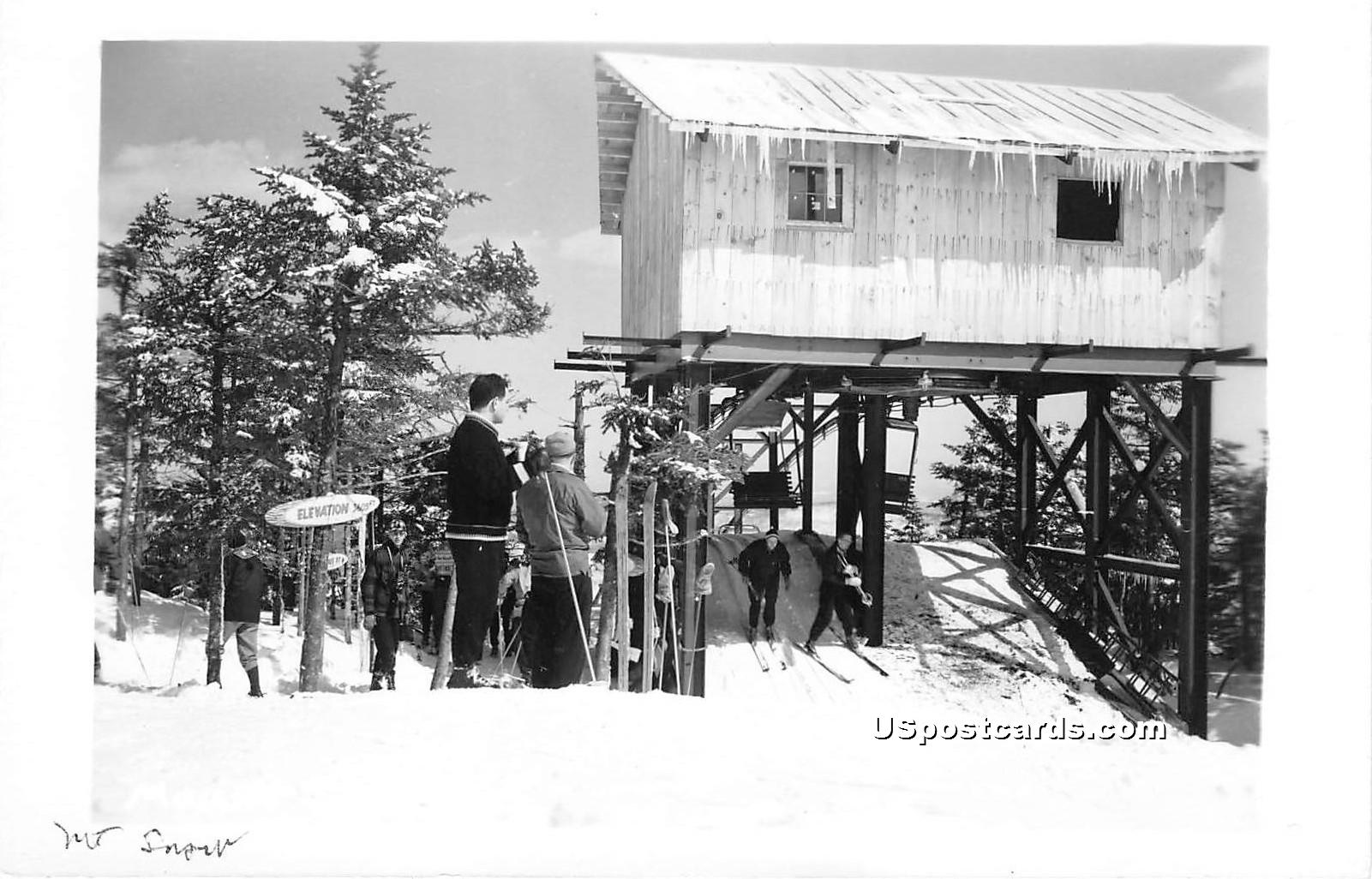 Ski Lift - Mount Snow, Vermont VT Postcard