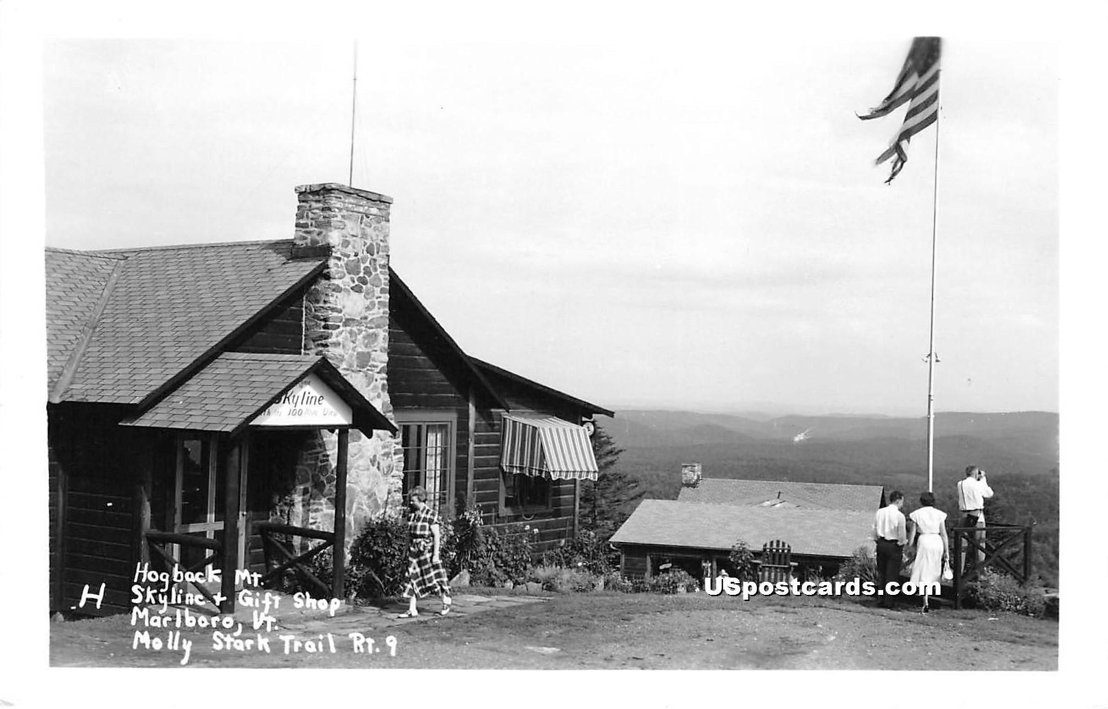 Hogback Mountain Gift Shop - Marlboro, Vermont VT Postcard