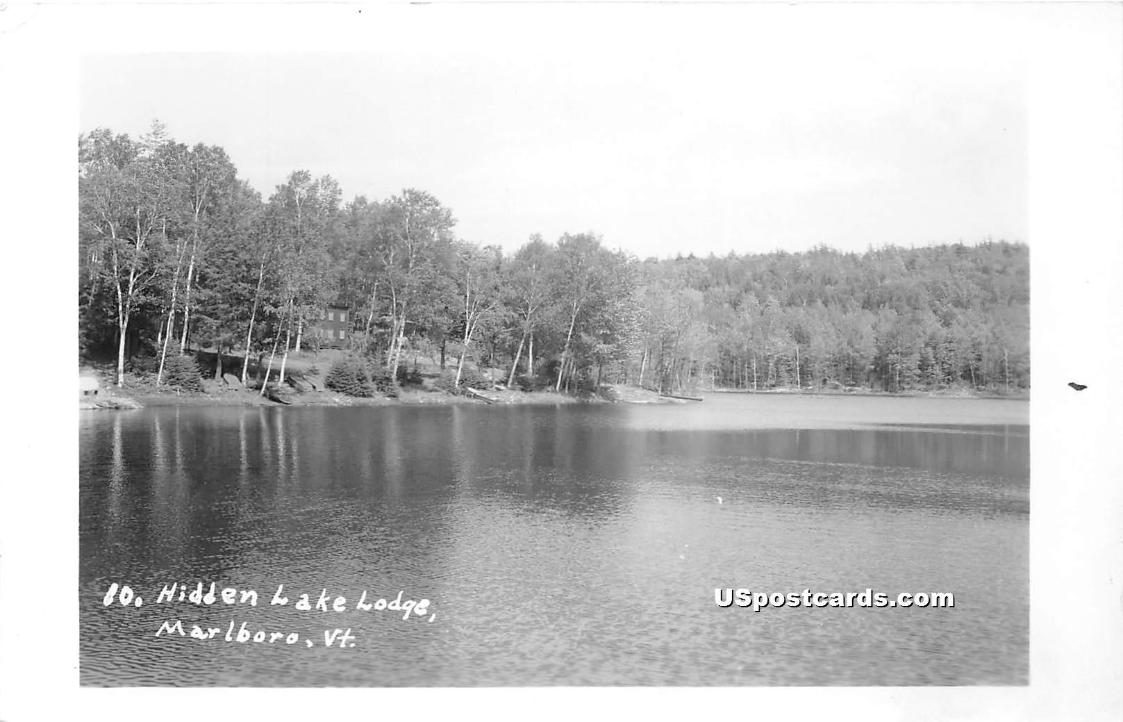 Hidden Lake Lodge - Marlboro, Vermont VT Postcard
