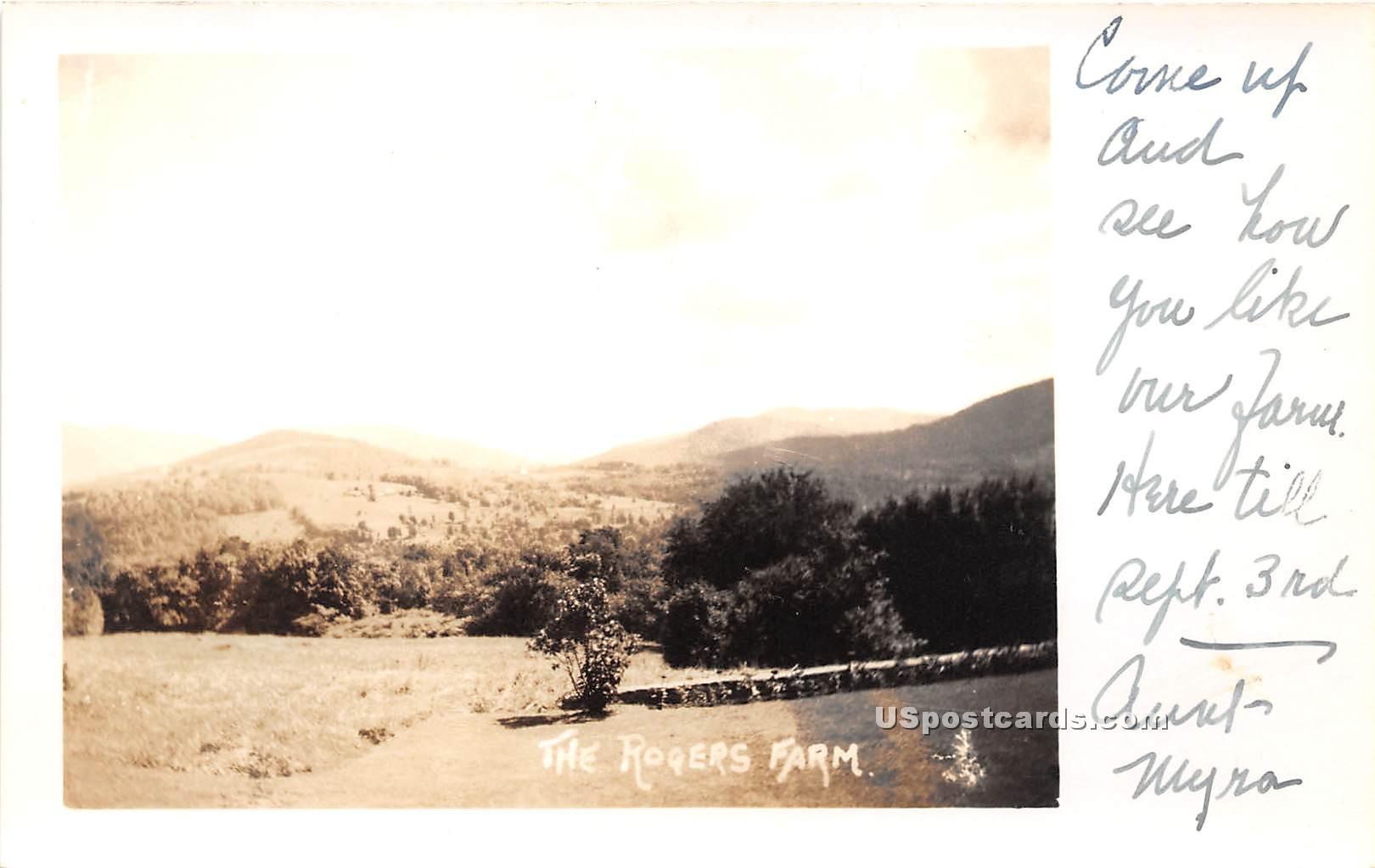 Rogers Farm - Misc, Vermont VT Postcard