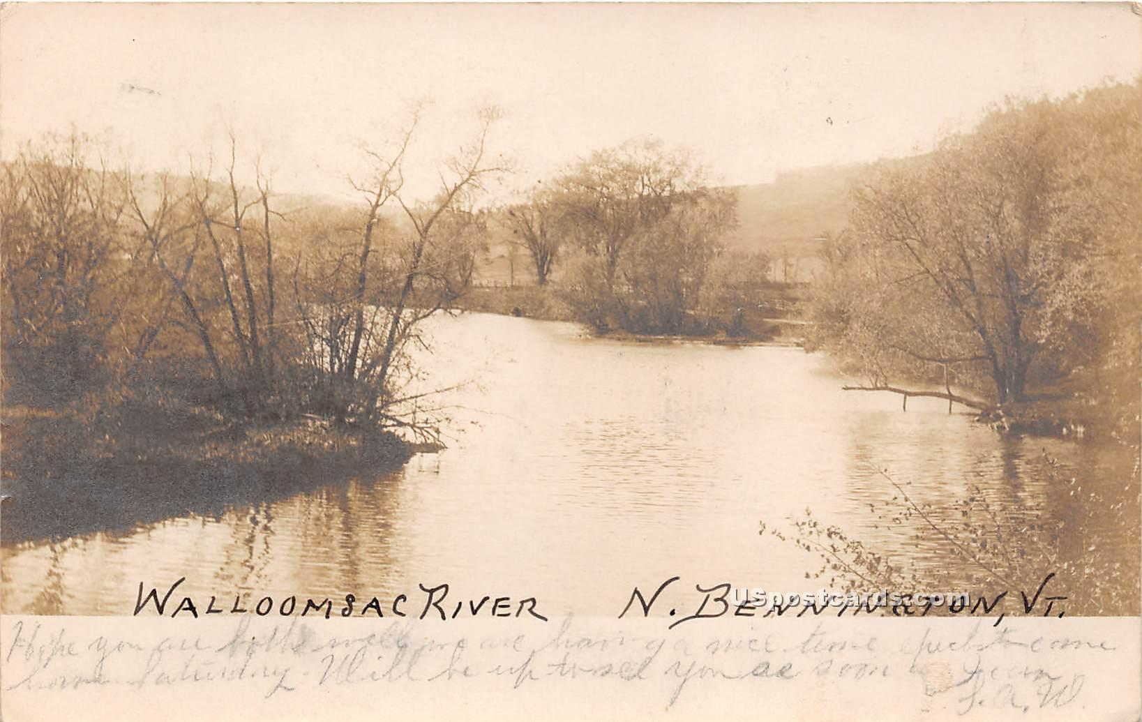 Wallomsac River - North Bennington, Vermont VT Postcard