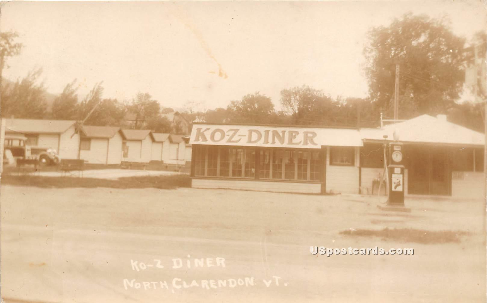 Ko-Z Diner - North Clarendon, Vermont VT Postcard