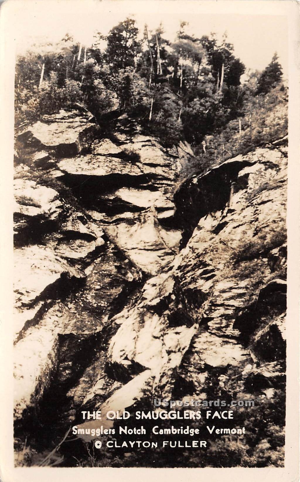Old Smugglers Face - North Cambridge, Vermont VT Postcard