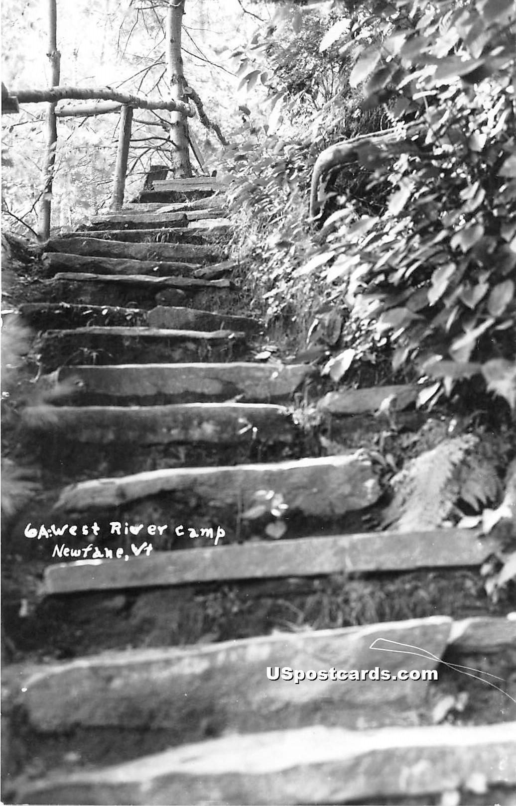Gawest River Camp - Newfane, Vermont VT Postcard