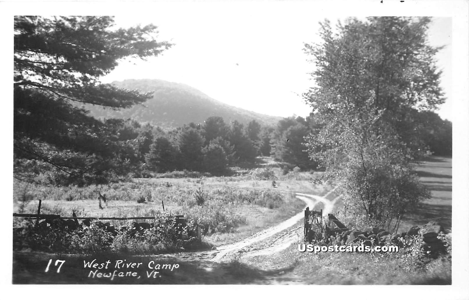 West River Camp - Newfane, Vermont VT Postcard