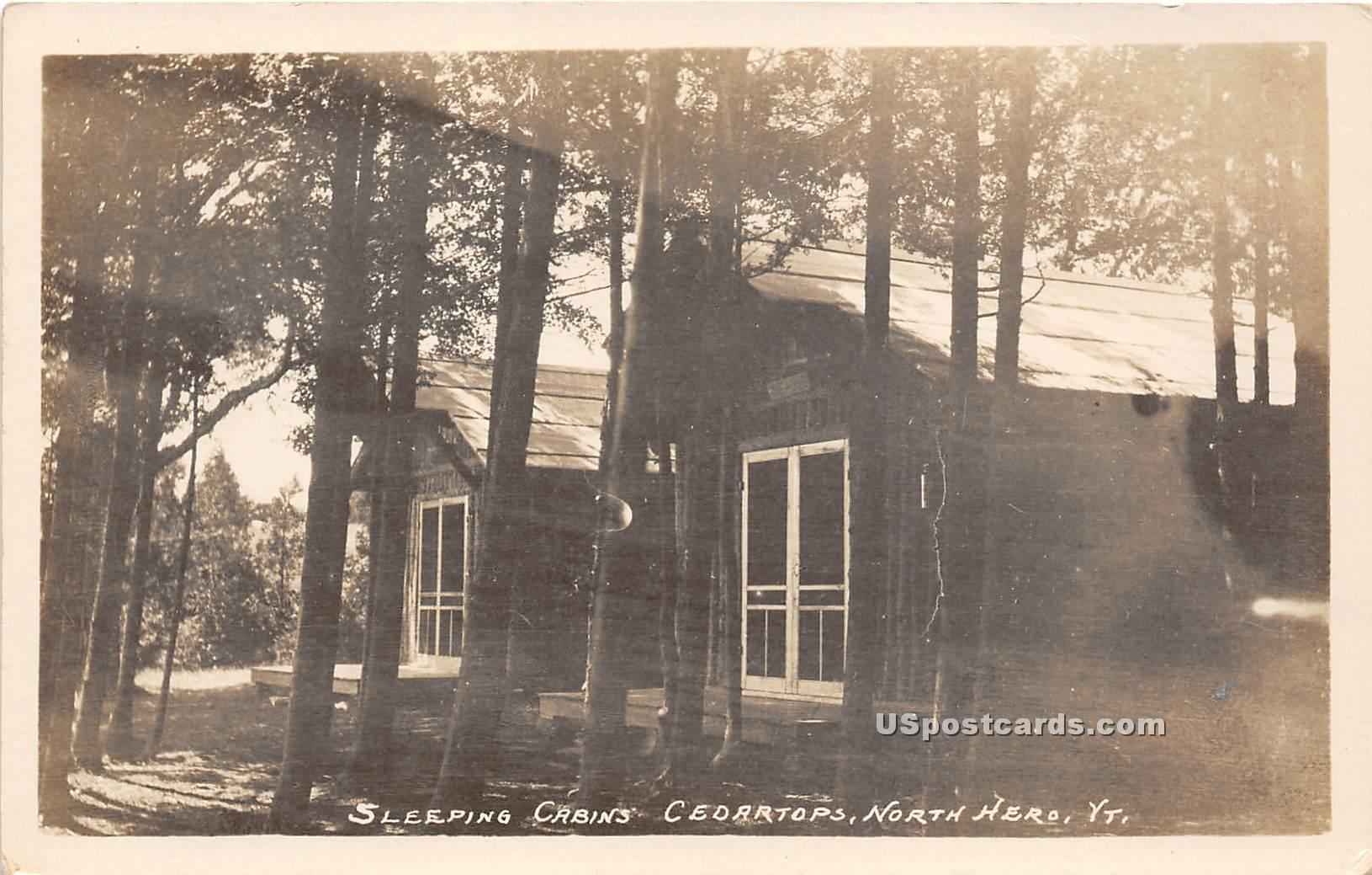 Sleeping Cabins - North Hero, Vermont VT Postcard